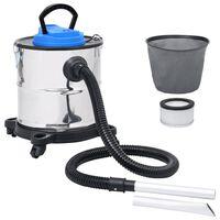 vidaXL pelnu putekļsūcējs, HEPA filtrs, 1200 W, 20 L, tērauds