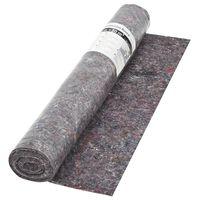vidaXL grīdas pārklājs, 50 m, 180 g/m², neslīdošs, pelēks