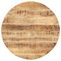 vidaXL galda virsma, 15-16 mm, 70 cm, apaļa, mango masīvkoks