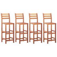 vidaXL bāra krēsli, 4 gab., akācijas masīvkoks