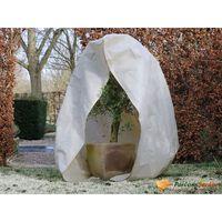 Nature augu ziemas pārsegs ar rāvējslēdzēju, 70 g/m², bēšs, 2x2,5 m