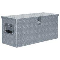 vidaXL kaste, 80x30x35 cm, alumīnijs, sudraba krāsā