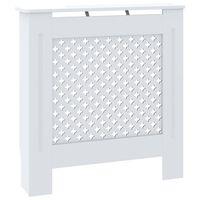 vidaXL radiatora pārsegs, balts MDF, 78 cm