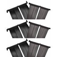 vidaXL saules paneļi baseina sildīšanai, 6 gab., 80x620 cm
