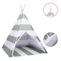 vidaXL bērnu telts ar somu, vigvama forma, svītraina, 120x120x150 cm