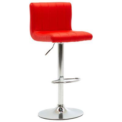 vidaXL bāra krēsls, sarkana mākslīgā āda