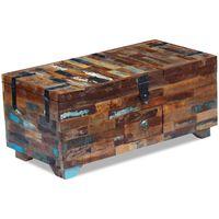 vidaXL kafijas galdiņš, mantu lāde, pārstrādāts koks, 80x40x35 cm