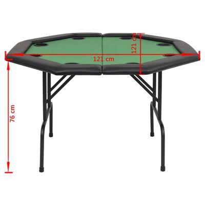 vidaXL pokera galds, salokāms, 8 spēlētājiem, astoņstūra, zaļš