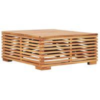 vidaXL dārza galds, 69,5x69,5x31 cm, masīvs tīkkoks