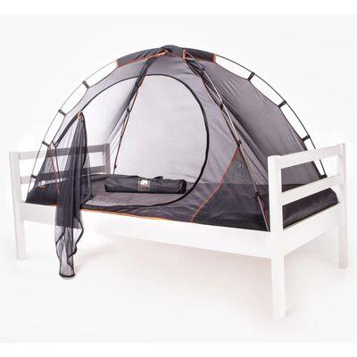 DERYAN moskītu tīkls gultai, 200x90x110 cm, melns
