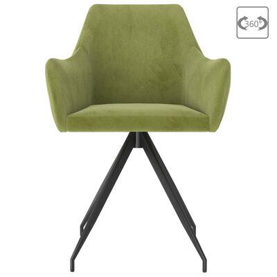 vidaXL virtuves krēsli, 4 gab., gaiši zaļš samts