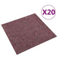 vidaXL paklājflīzes, 20 gab., 5 m², tumši sarkanas