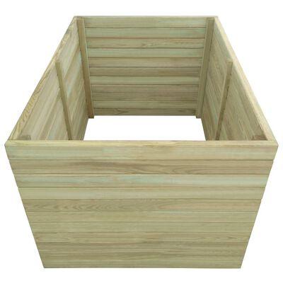 vidaXL augstā puķu kaste, 100x100x77 cm, impregnēts priedes koks