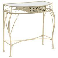 vidaXL galdiņš, franču stils, metāls, 82x39x76 cm, zelta krāsa