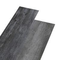 vidaXL grīdas dēļi, 4,46 m², 3 mm, spīdīgi pelēks PVC