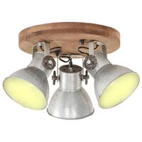 vidaXL griestu lampa, industriāls dizains, sudrabaina, 42x27 cm, E27