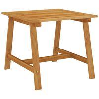 vidaXL dārza galds, 88x88x74 cm, akācijas masīvkoks