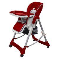 vidaXL bērnu barošanas krēsls, regulējams augstums, bordo sarkans