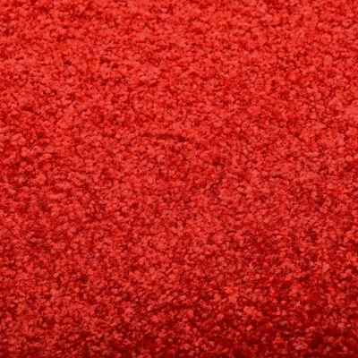 vidaXL durvju paklājs, mazgājams, sarkans, 90x120 cm