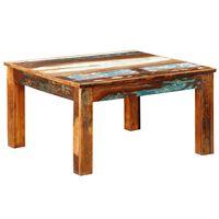 vidaXL kafijas galdiņš, kvadrāta forma, pārstrādāts koks