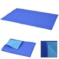 vidaXL piknika sega, zila, 150x200 cm