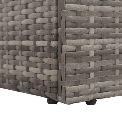 vidaXL dārza gulta, pelēka, 195x60 cm, PE rotangpalma