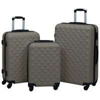 vidaXL cieto koferu komplekts, 3 gab., ABS, antracītpelēki