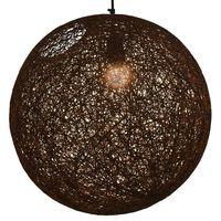 vidaXL piekaramā lampa, 45 cm, E27, sfēriska, brūna