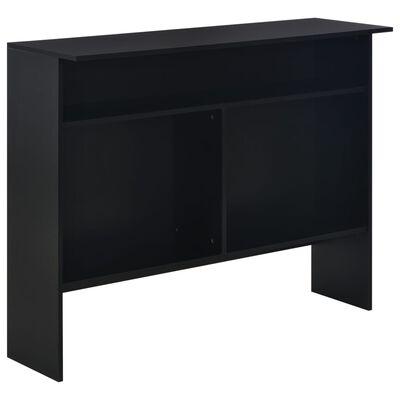 vidaXL bāra galds ar divām virsmām, 130x40x120 cm, melns
