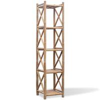 5 līmeņu bambusa plaukts, kvadrātveida
