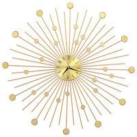 vidaXL sienas pulkstenis, 70 cm, metāls, zelta krāsa