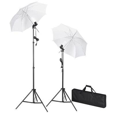 vidaXL fotostudijas komplekts – foni, lampas un lietussargi