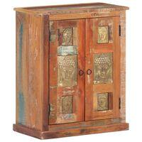 vidaXL kumode ar Budas dekoriem, 60x35x75 cm, pārstrādāts masīvkoks