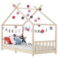 vidaXL bērnu gultas rāmis, 90x200 cm, priedes masīvkoks