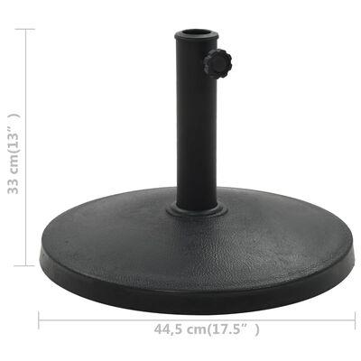 vidaXL saulessarga pamatne, apaļa, polirezīns, 10 kg, melna