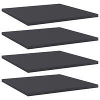 vidaXL plauktu dēļi, 4 gab., pelēki, 40x40x1,5 cm, skaidu plāksne