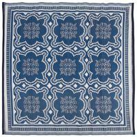 Esschert Design āra paklājs, 151,5 cm, zils un balts, OC23