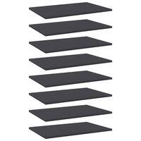 vidaXL plauktu dēļi, 8 gab., pelēki, 60x40x1,5 cm, skaidu plāksne