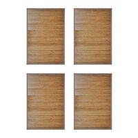 vidaXL vannasistabas paklāji, 4 gab., bambuss, brūns, 60 x 90 cm