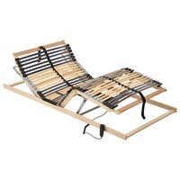 vidaXL elektriskas gultas redeles, 42 līstītes, 7 zonas, 80x200 cm