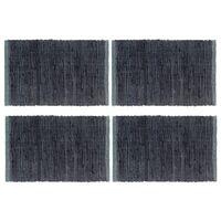 vidaXL Chindi galda paliktņi, 4 gab., pelēki, 30x45 cm, kokvilna