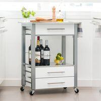 Excellent Houseware virtuves ratiņi, MDF, balti