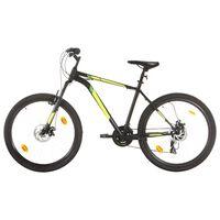 vidaXL kalnu velosipēds, 21 ātrums, 27,5'', 42 cm, melns