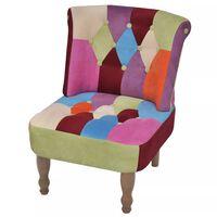 vidaXL franču stila krēsls ar tekstilmozaīkas dizaina audumu