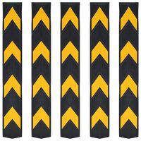 vidaXL atstarojoši stūru aizsargi, 5 gab., gumija, 80 cm