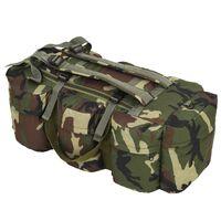 vidaXL soma, armijas stils, 120 L, kamuflāža