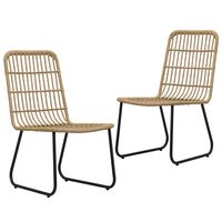 vidaXL dārza krēsli, 2 gab., PE rotangpalma, ozolkoka krāsa