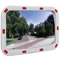 Izliekts satiksmes spogulis, taisnstūra, 40x60 cm, ar atstarotājiem