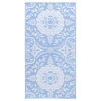 vidaXL āra paklājs, 160x230 cm, zilgans PP