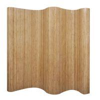 vidaXL istabas aizslietnis, bambuss, dabīgā krāsā, 250x165 cm